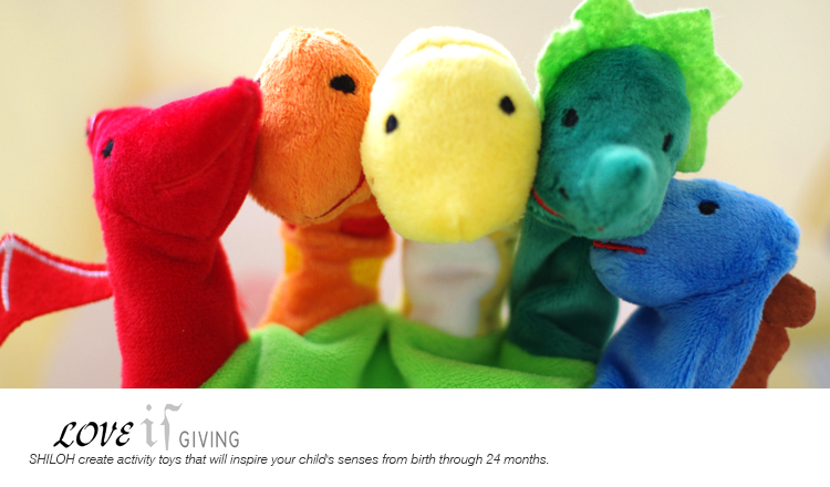 shiloh 婴儿玩具 指偶手偶 新生儿安抚玩偶宝宝毛绒玩具 亲子互动恐龙