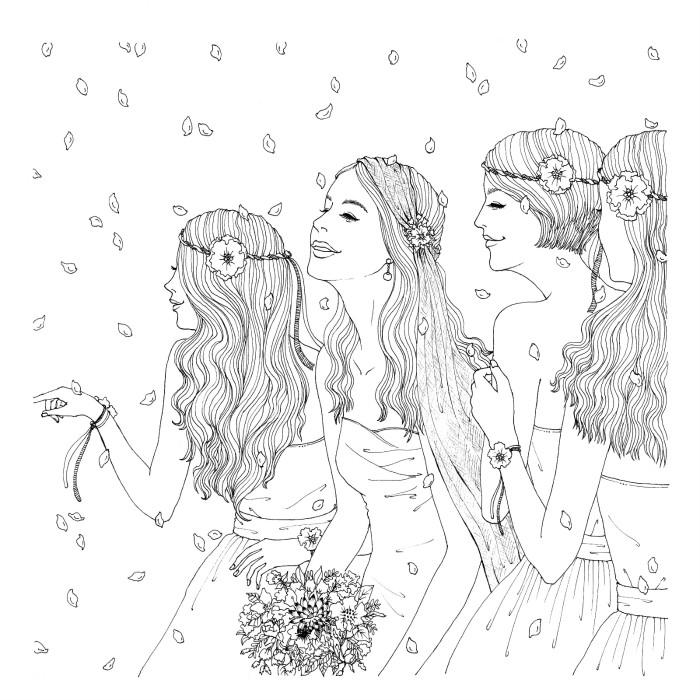 韩国手绘小清新边框彩铅画