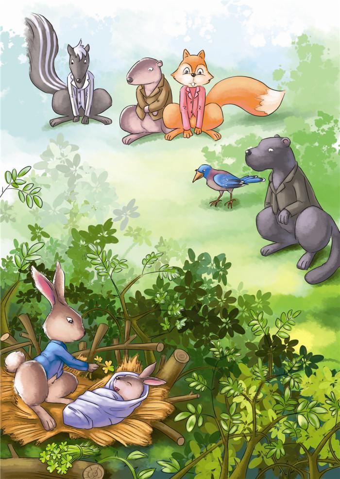 西风妈妈和小动物们的故事小动物们的新邻居