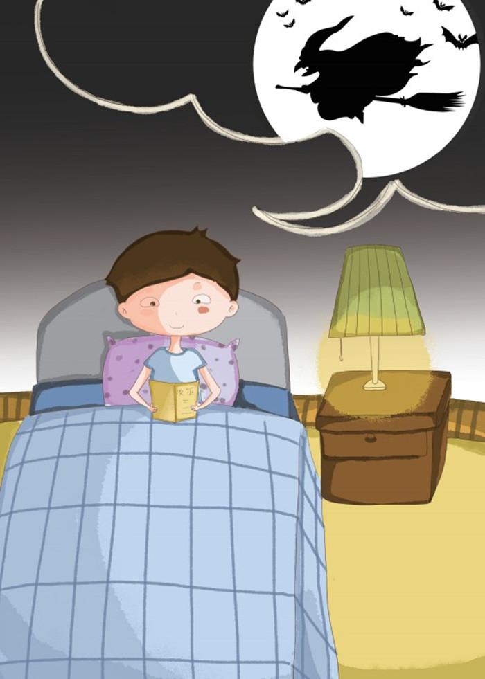 瞌睡男孩动画图片可爱
