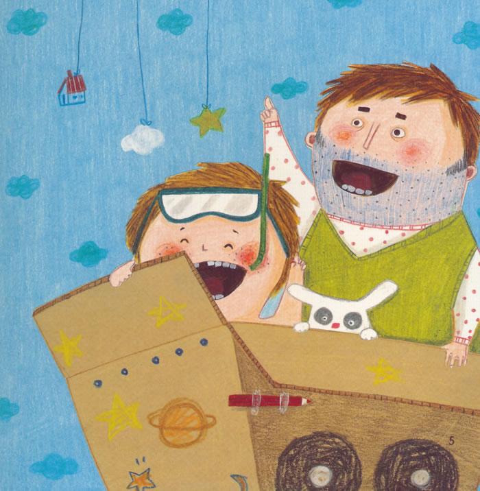 幼儿园区角绘本书 小班7 爸爸和我
