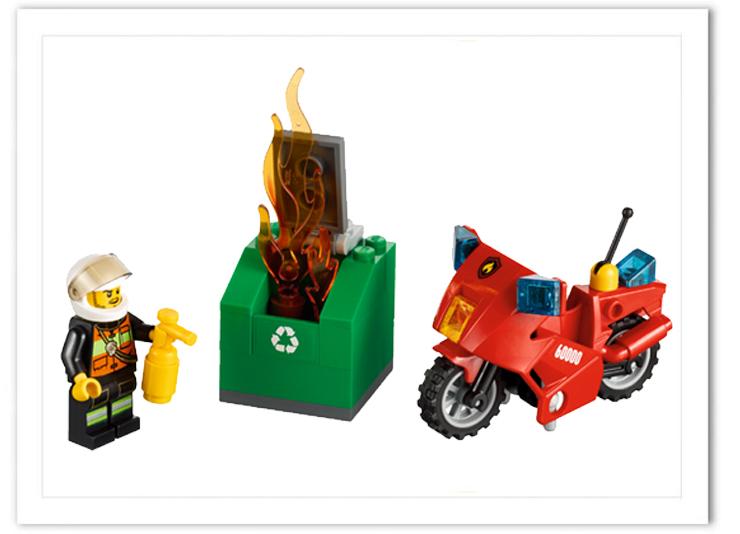 乐高消防员图片