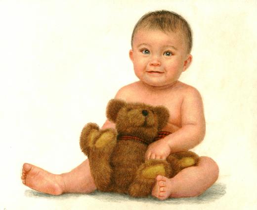用色铅笔画可爱宝宝