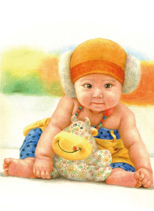 超萌宝宝来袭!用色铅笔画可爱宝宝_铅笔画_艺术培养