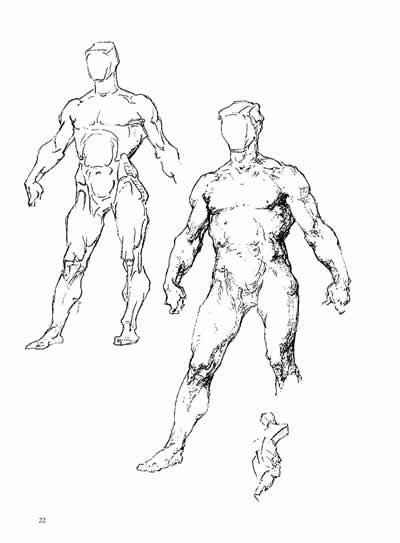 手绘人体骨架模型
