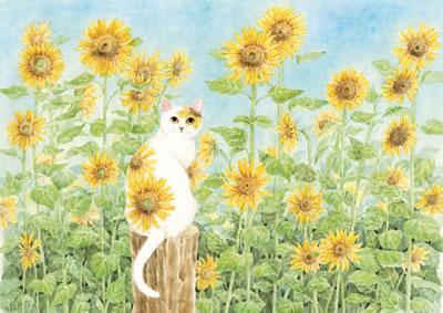 手绘油画向日葵叶子
