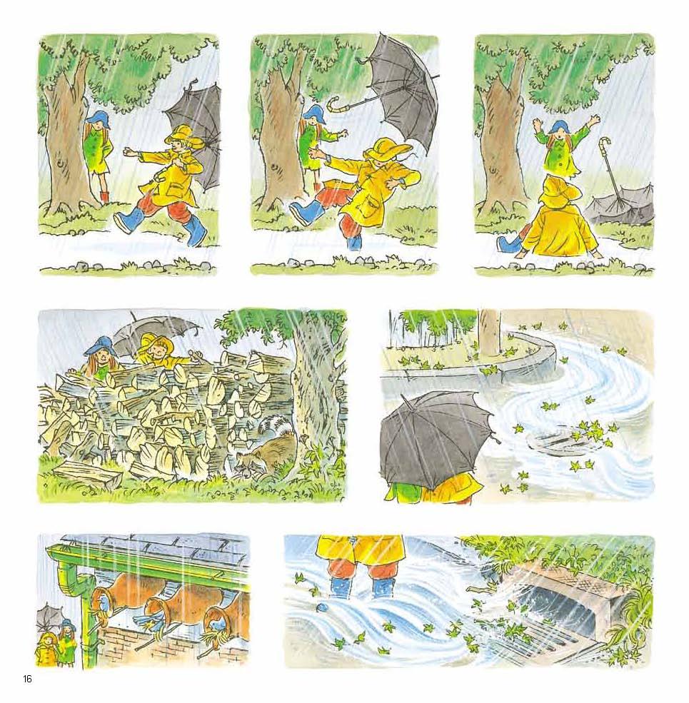 下雨天 精装绘本 3-6岁儿童启蒙认知读物