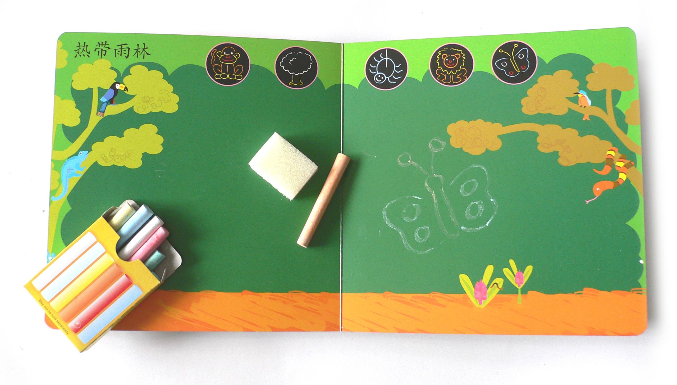 花朵藤蔓边框简笔画绿色