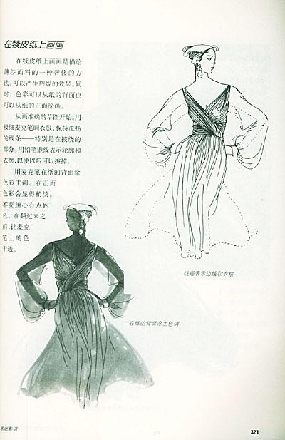 古装画法裙子手绘