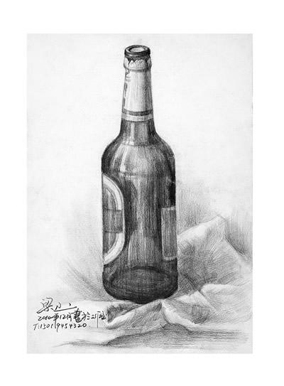 画瓶子的素描步骤图片