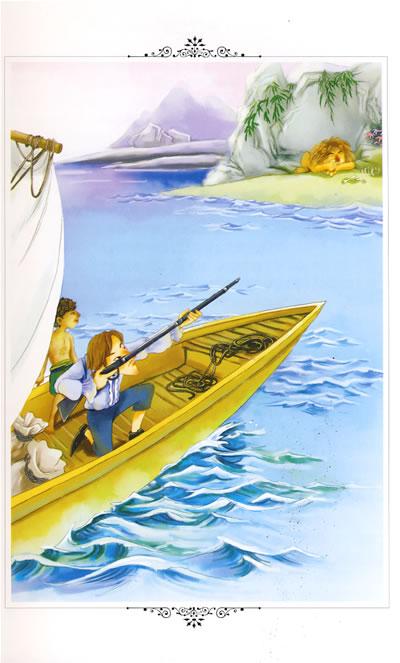 梦想小船手绘插画