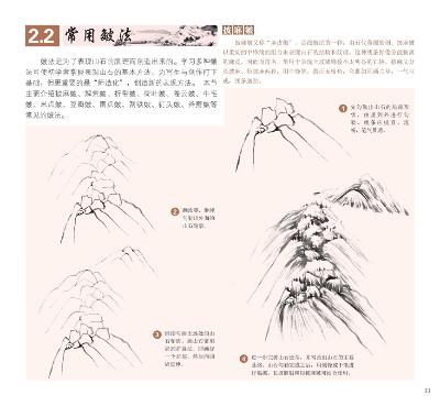 中国写意画入门轻松学:山水云树(国画初学者之友,零基础学国画不再难.
