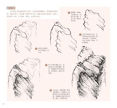 中国写意画入门轻松学山水云树国画初学; 松树的画法  柳树的画法