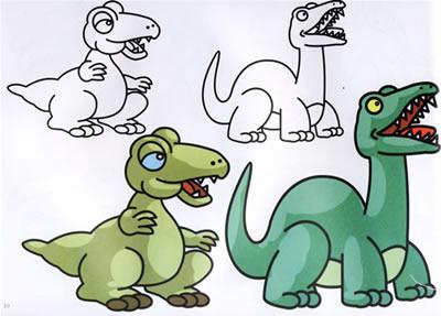 恐龙世界卡通画