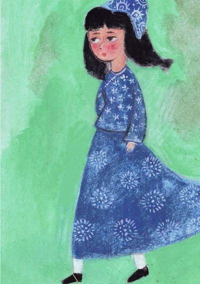 老树精婆婆的七彩头发图片