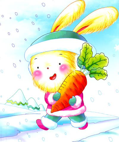 小白兔童书馆*宝宝大画书/草莓派/长腿的萝卜