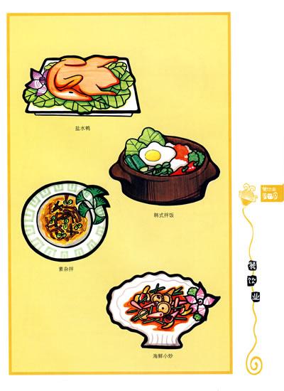 餐饮海报步聚解析  餐饮海报设计欣赏; 美食pop手绘海报; 行业手绘pop