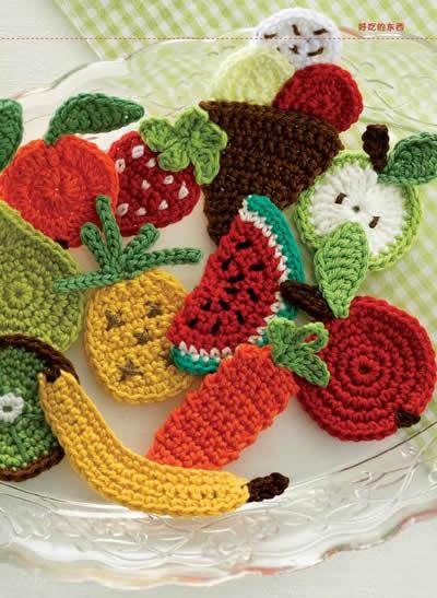 100款应用无限迷人钩针小物(钩出超可爱小物件100款,迷人的花朵,好吃