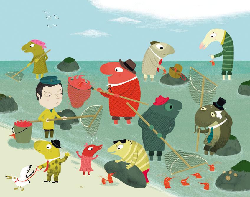 麦田精选图画书鱼儿会游泳吗这本可爱的故事将要告诉你一个不