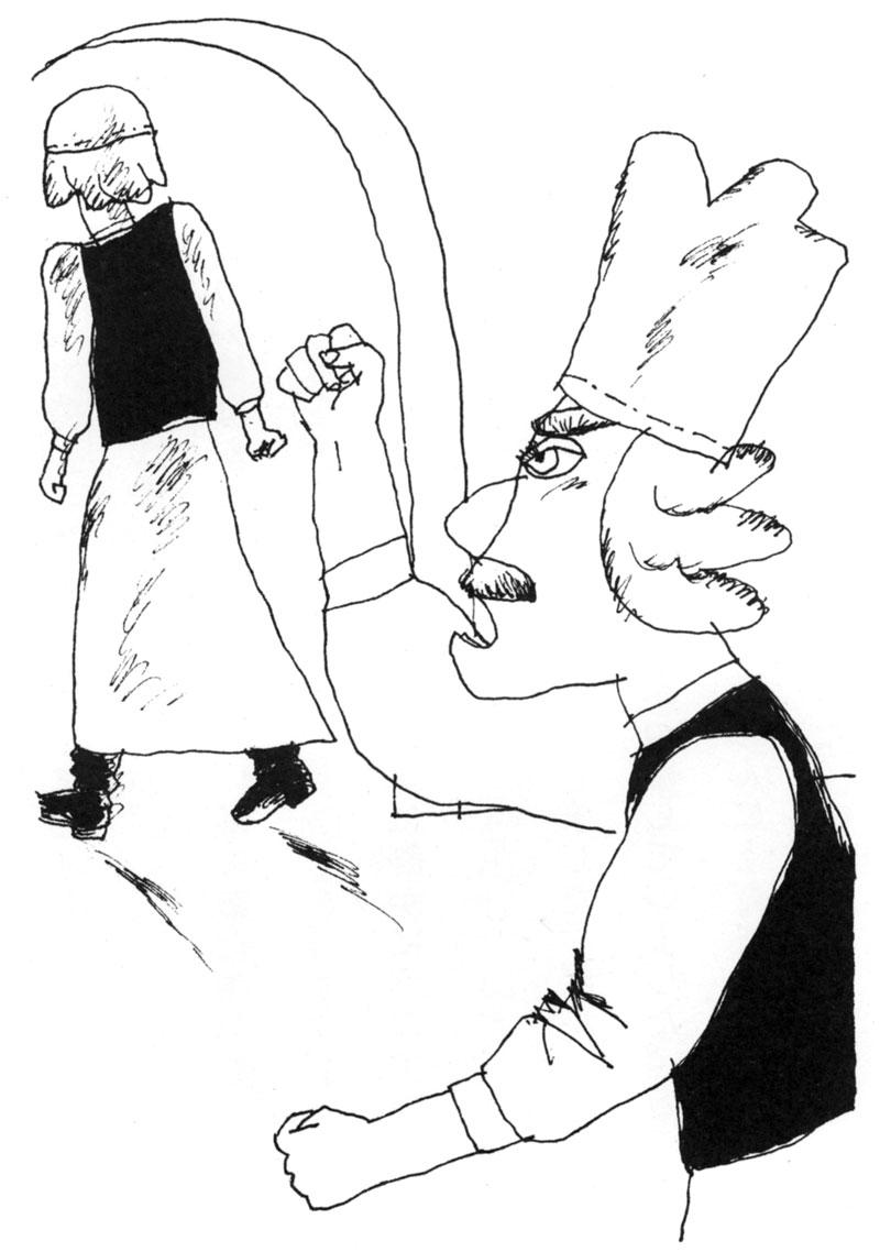 欧式面包房漫画线稿图片