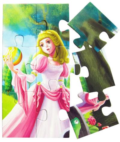 经典童话大拼图--青蛙王子(适合3岁以上儿童)读经典童话,拼拼图,小手
