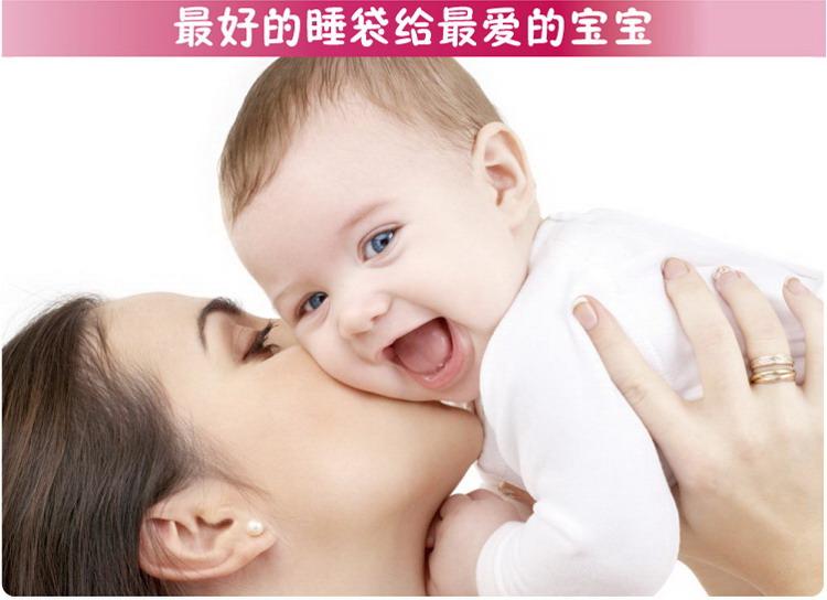 睡王 可爱的小兔宝宝精梳棉无袖造型睡袋(长款)2012年