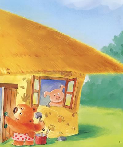 插图:; 伞屋[平装]; 可爱小动物图画 简单的小动物图画