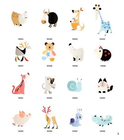 【rt6】可爱动物绘--韩国动物彩图3000例 [韩]黄喆秀 化学工业出版社