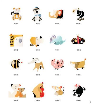 可爱动物绘--最新韩国动物彩图3000例(简单的线条