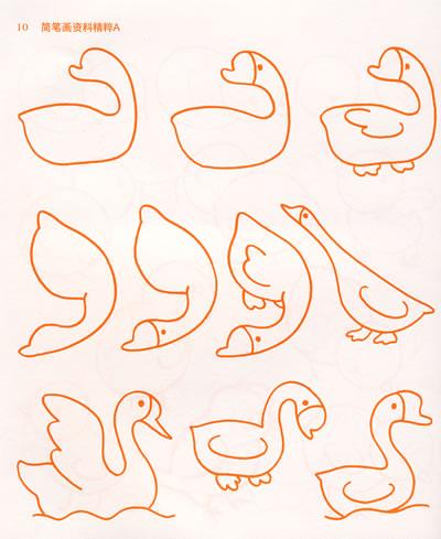 鱼的简笔画图片 卡通简笔画图片大全影