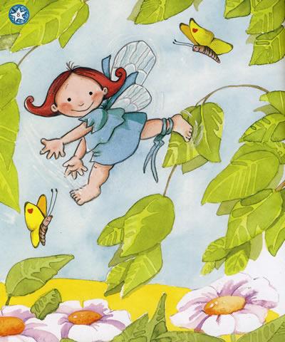 简单好看的插图 手绘小仙子