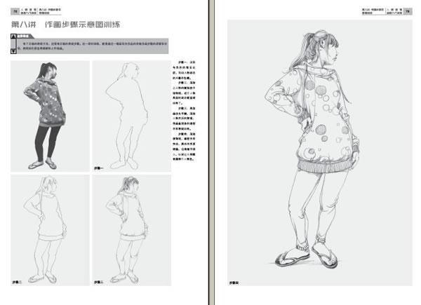 手绘模特比例步骤图